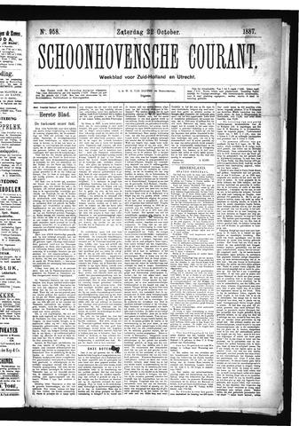 Schoonhovensche Courant 1887-10-22