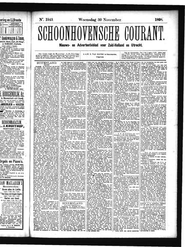 Schoonhovensche Courant 1898-11-30