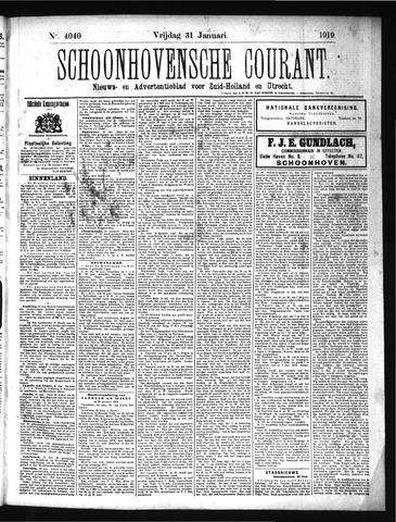 Schoonhovensche Courant 1919-01-31