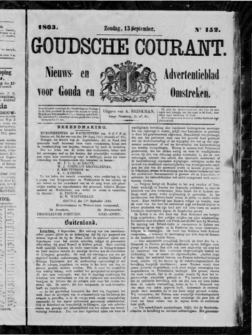 Goudsche Courant 1863-09-13