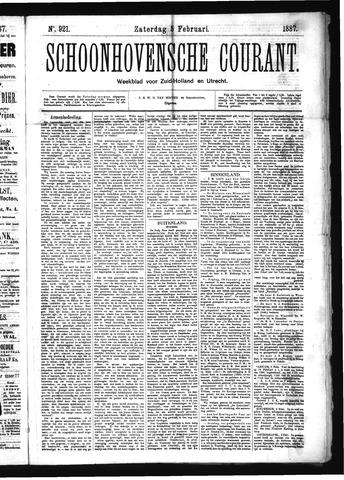Schoonhovensche Courant 1887-02-05