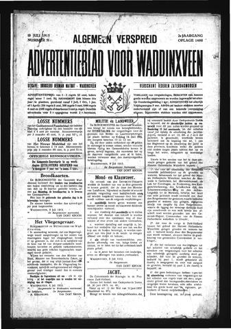 Advertentieblad Waddinxveen 1915