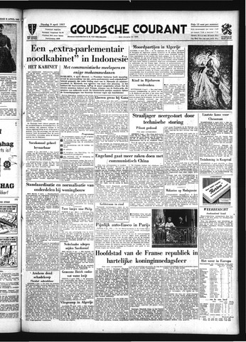 Goudsche Courant 1957-04-09