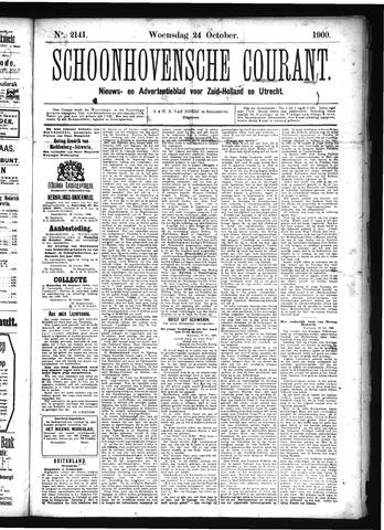 Schoonhovensche Courant 1900-10-24