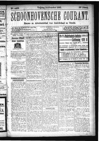 Schoonhovensche Courant 1921-10-14