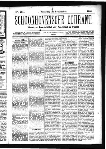 Schoonhovensche Courant 1903-09-26