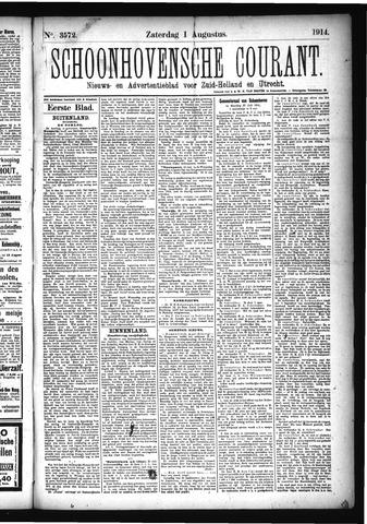 Schoonhovensche Courant 1914-08-01