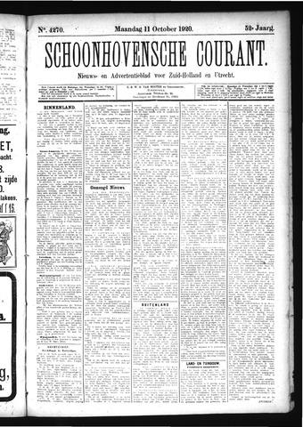 Schoonhovensche Courant 1920-10-11