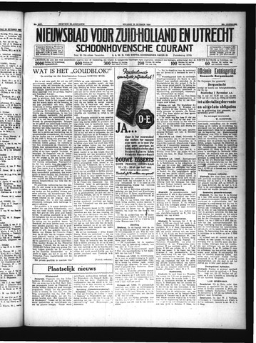 Schoonhovensche Courant 1934-10-26