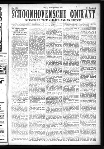 Schoonhovensche Courant 1924-09-26