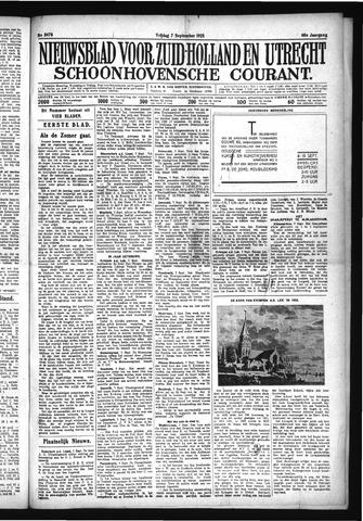 Schoonhovensche Courant 1928-09-07