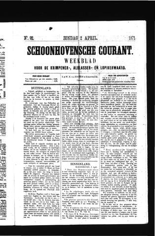 Schoonhovensche Courant 1871-04-02