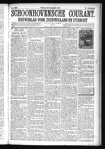 Schoonhovensche Courant 1925-11-20