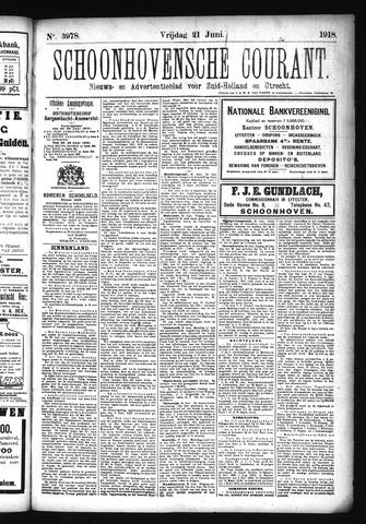 Schoonhovensche Courant 1918-06-21