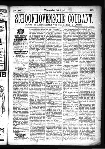 Schoonhovensche Courant 1913-04-16