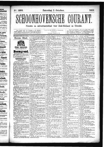 Schoonhovensche Courant 1912-10-05