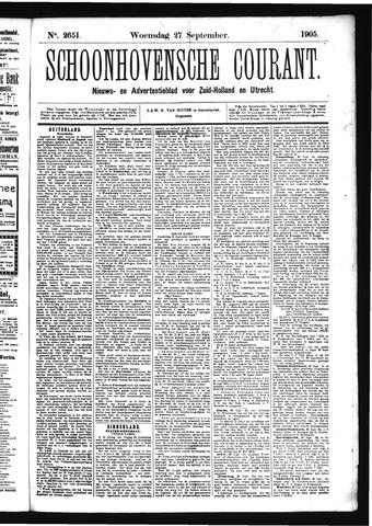 Schoonhovensche Courant 1905-09-27
