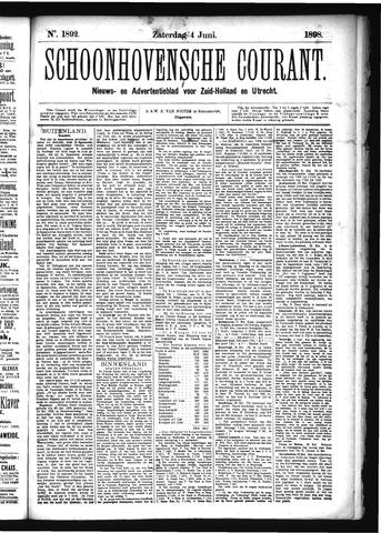 Schoonhovensche Courant 1898-06-04