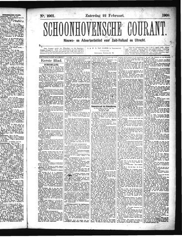 Schoonhovensche Courant 1908-02-22
