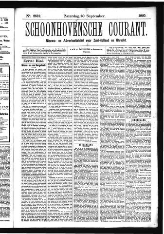 Schoonhovensche Courant 1905-09-30