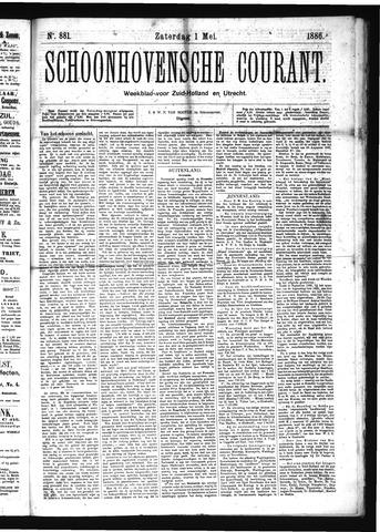 Schoonhovensche Courant 1886-05-01