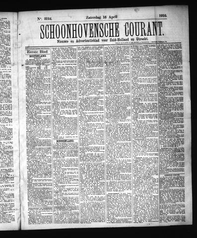 Schoonhovensche Courant 1910-04-16