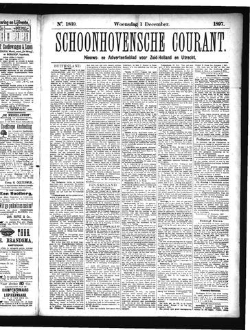 Schoonhovensche Courant 1897-12-01
