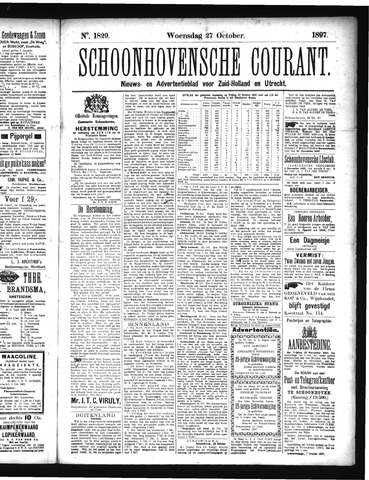 Schoonhovensche Courant 1897-10-27