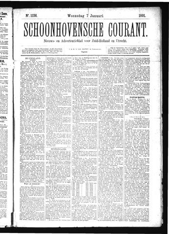 Schoonhovensche Courant 1891-01-07