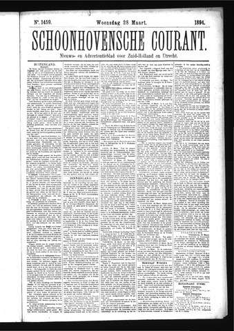 Schoonhovensche Courant 1894-03-28