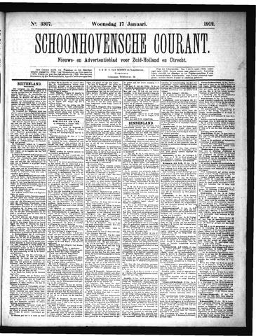Schoonhovensche Courant 1912-01-17