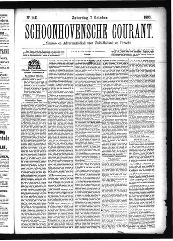 Schoonhovensche Courant 1893-10-07