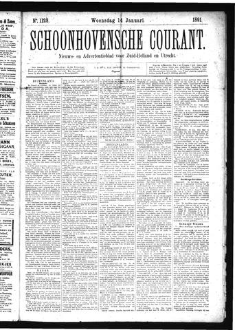 Schoonhovensche Courant 1891-01-14