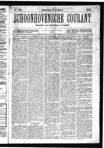 Schoonhovensche Courant 1883-10-13