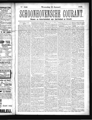 Schoonhovensche Courant 1896-01-22