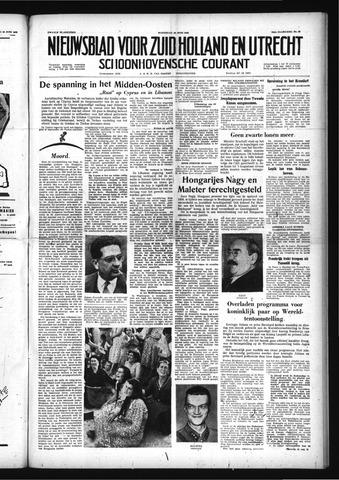 Schoonhovensche Courant 1958-06-18