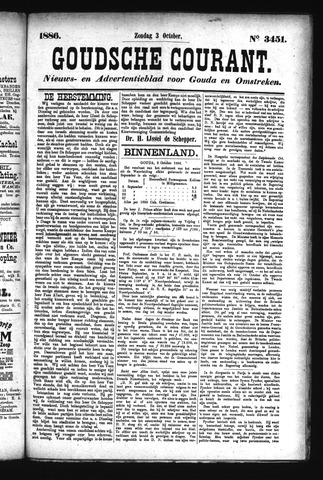 Goudsche Courant 1886-10-03
