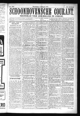 Schoonhovensche Courant 1925-02-04