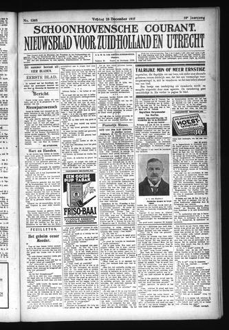 Schoonhovensche Courant 1927-12-23