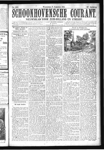 Schoonhovensche Courant 1924-08-27