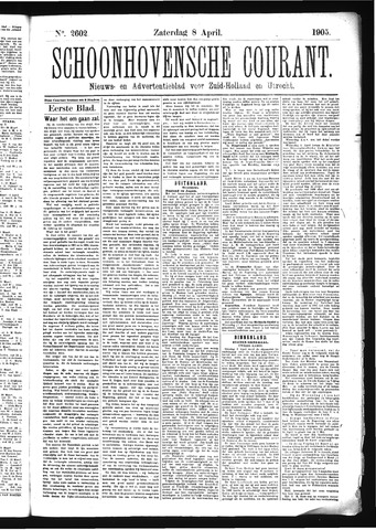 Schoonhovensche Courant 1905-04-08