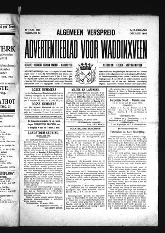 Advertentieblad Waddinxveen 1916-01-29