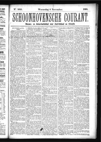 Schoonhovensche Courant 1895-11-06