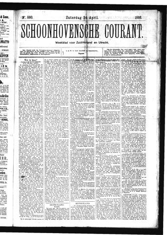 Schoonhovensche Courant 1886-04-24