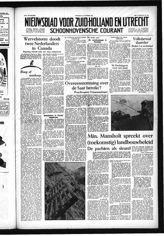 Schoonhovensche Courant 1954-10-20