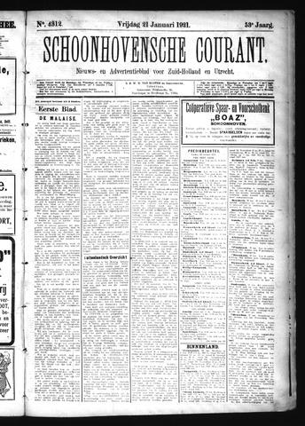 Schoonhovensche Courant 1921-01-21