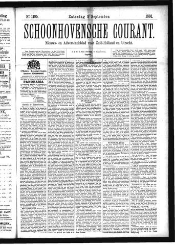 Schoonhovensche Courant 1891-09-05