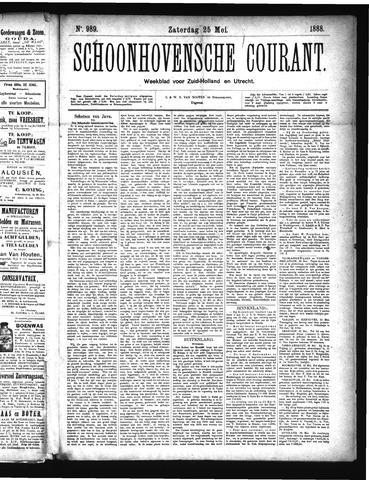 Schoonhovensche Courant 1888-05-25