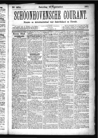 Schoonhovensche Courant 1911-09-23