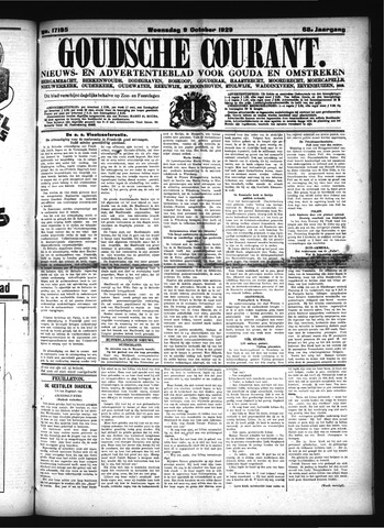 Goudsche Courant 1929-10-09
